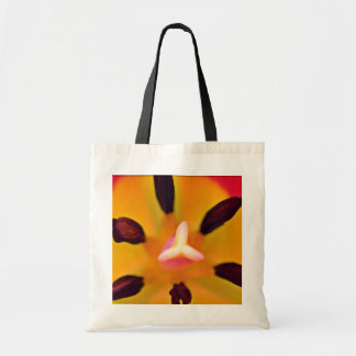Pistil and stamen of a tulip White flowers Canvas Bags