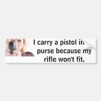 Pistol Bumper Sticker