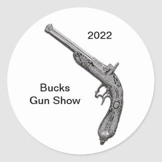 Pistol Gun Show Custom Sticker