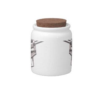 Pistol Handgun Drawing Isolated On White Backgroun Candy Jar