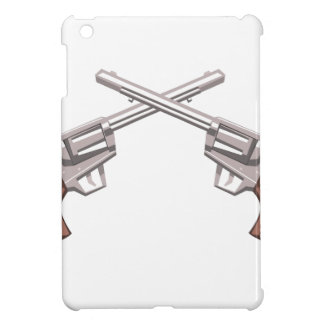 Pistol Handgun Drawing Isolated On White Backgroun Cover For The iPad Mini