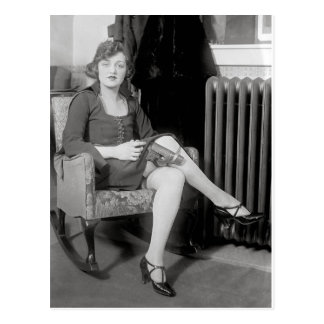 Pistol Hidden in Garter, 1922 Postcard