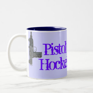 Pistol Packin Hockey Mom! Two-Tone Coffee Mug