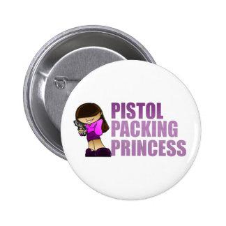 Pistol Packing Princess Buttons