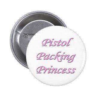 Pistol Packing Princess Button