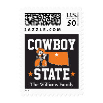 Pistol Pete Cowboy State 3 Postage