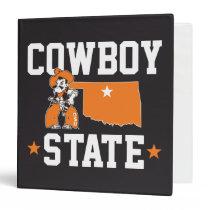 Pistol Pete Cowboy State 3 Ring Binder