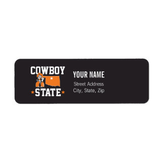 Pistol Pete Cowboy State Label