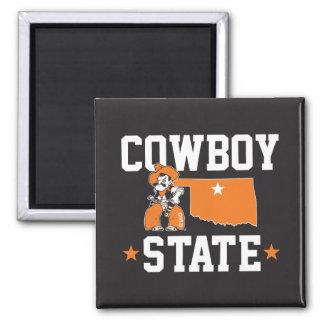 Pistol Pete Cowboy State Magnet