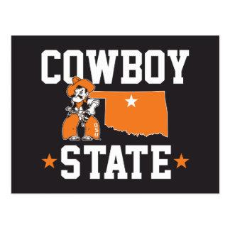 Pistol Pete Cowboy State Postcard