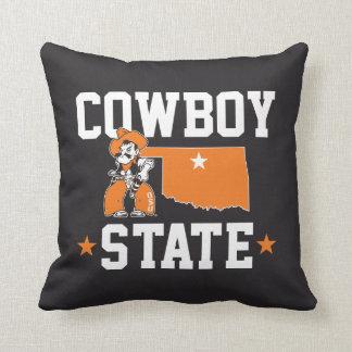 Pistol Pete Cowboy State Throw Pillow