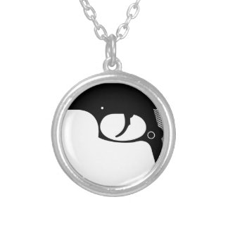 Pistol Silver Plated Necklace