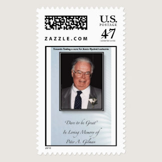 pistol stamp, Towards a cure for Leukemia Postage