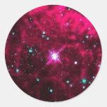 Pistol Star Round Sticker