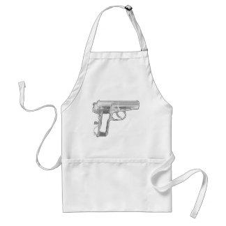 pistol x-ray adult apron