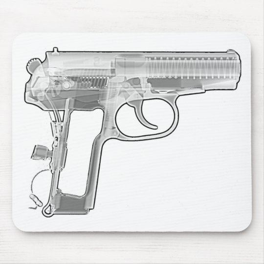 pistol x-ray mouse pad