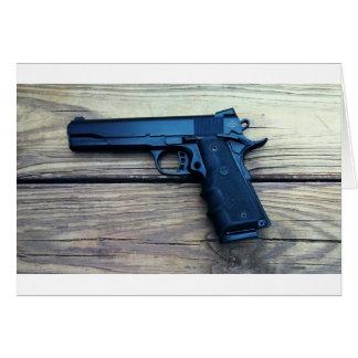 Pistola 1911 tarjeta de felicitación