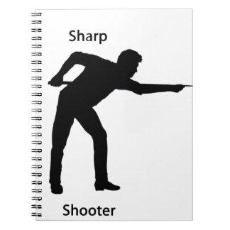 Pistola aguda libros de apuntes con espiral
