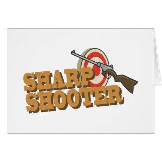Pistola aguda tarjeta de felicitación