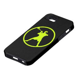 Pistola - caja verde del iphone 5 iPhone 5 Case-Mate protector
