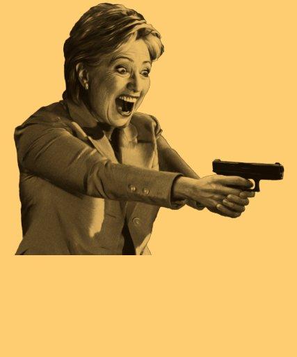 Pistola de Hillary Camiseta