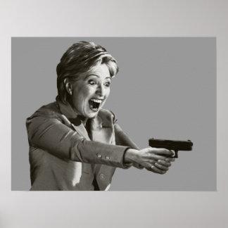 Pistola de Hillary Póster