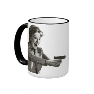 Pistola de Hillary Taza De Dos Colores
