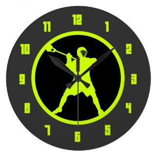 Pistola de LaCrosse - verde Reloj Redondo Grande