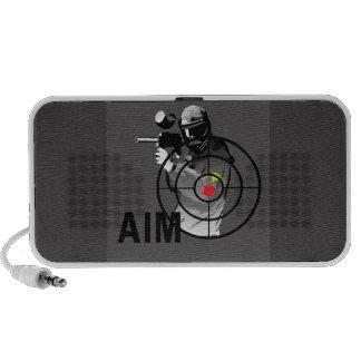 Pistola de Paintball - objetivo Altavoces