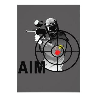 Pistola de Paintball - objetivo Invitación 12,7 X 17,8 Cm