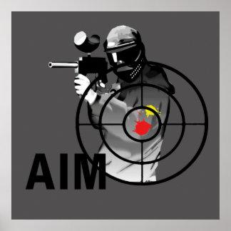 Pistola de Paintball - objetivo Póster