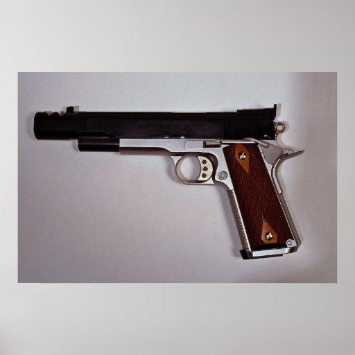 Pistola del aire de la blanco poster
