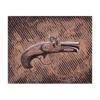 Pistola del Derringer de Philadelphia Impresión En Lienzo