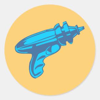Pistola del laser del arma de rayo de la ciencia f etiqueta redonda