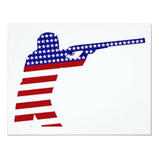Pistola del rifle de los E.E.U.U. - competidor del Invitación 10,8 X 13,9 Cm