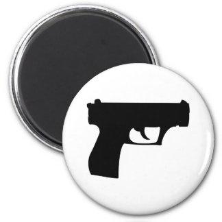 pistola negra - arma imanes para frigoríficos