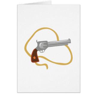 Pistola occidental tarjeta de felicitación