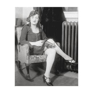 Pistola ocultada en Garter, 1922 Impresiones De Lienzo