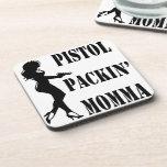Pistola Packin Momma Posavasos De Bebida