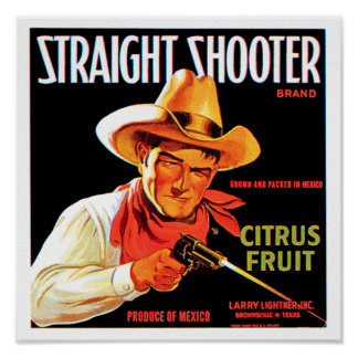 Pistola recta posters