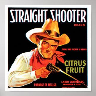 Pistola recta póster