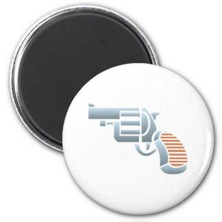 Pistola revólver Colt pistol Imán Redondo 5 Cm