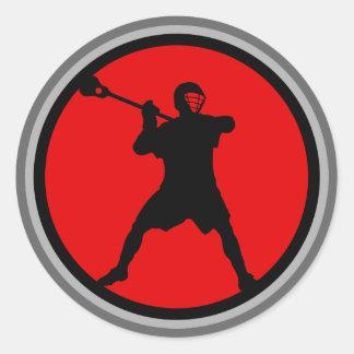 Pistola-rojo Pegatina Redonda