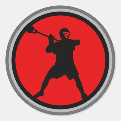 Pistola-rojo Etiquetas Redondas