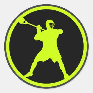 Pistola-verde Pegatina Redonda