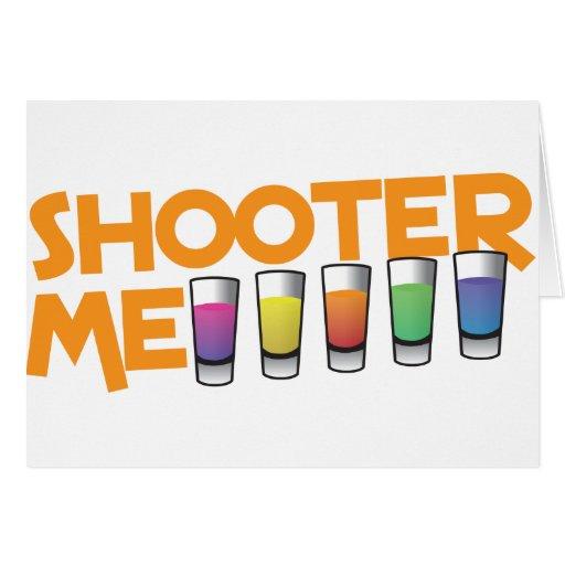 pistola yo tarjeta de felicitación