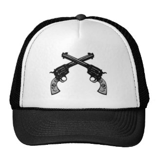 Pistolas cruzadas retras gorros