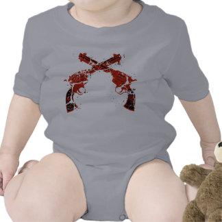 Pistolas cruzadas retras trajes de bebé