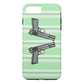 Pistolas, ejemplo de la arma de mano funda iPhone 7 plus