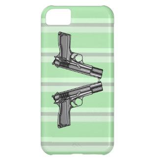 Pistolas, ejemplo de la arma de mano funda para iPhone 5C